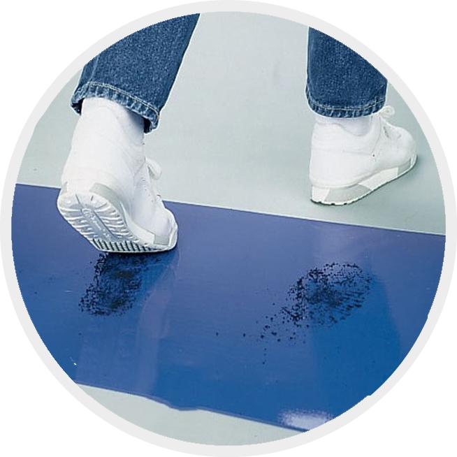 Липкий дезінфекційний килимок